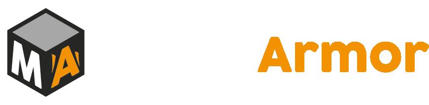 logo métal armor version blanche
